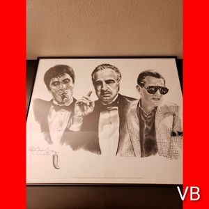 Mobsters Lithograph Original Black Framed Art